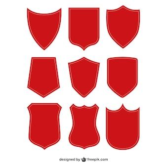 Pack de escudos rojos