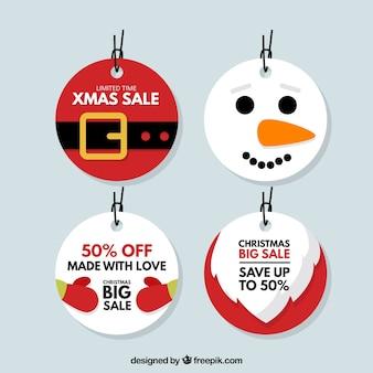 Pack de etiquetas navideñas con descuentos