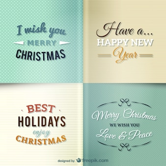 Pack de felicitaciones de Navidad