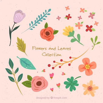 Pack de flores de primaveras dibujadas a mano