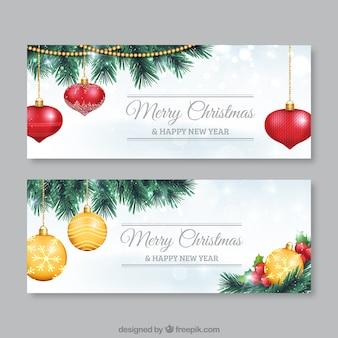 Pack de flyers de bolas de navidad