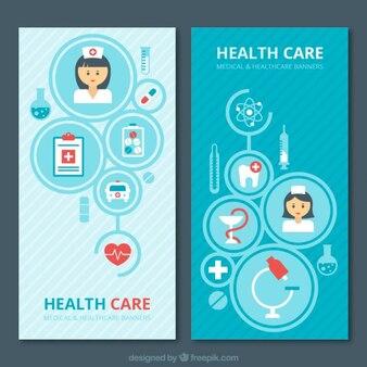 Pack de flyers de cuidados médicos