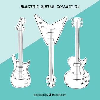 Pack de guitarras eléctricas dibujadas a mano