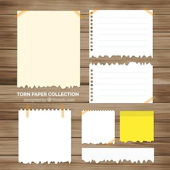 Pack de hojas de cuaderno rasgadas