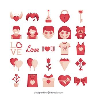 Pack de iconos de amor