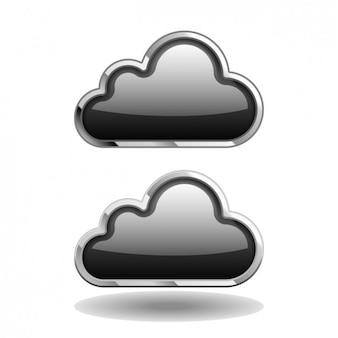 Pack de iconos de nubes negras