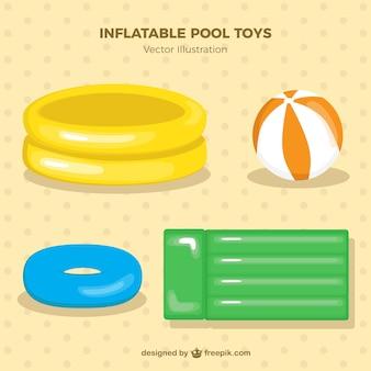 Pack de juguetes inflables de piscina en colores suaves