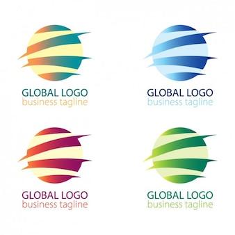 Pack de logo de globo abstracto