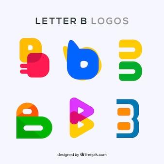 Pack de logos coloridos de letra  b