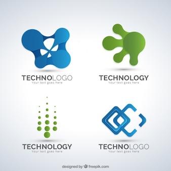 Pack de logos de formas abstractas de tecnología