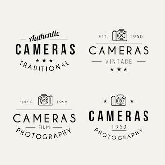 Pack de logos de fotografía en estilo vintage