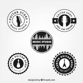 Pack de logos de guitarra redondos