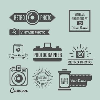 Pack de logos retro de fotografía