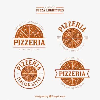 Pack de logos vintage de pizza