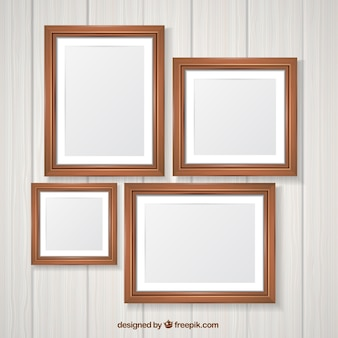Pack de marcos de fotos de madera