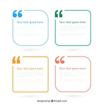 Pack de marcos de texto simples