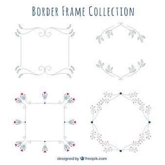 Pack de marcos decorativos con detalles de flores