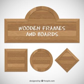 Pack de marcos y tablas de madera