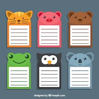 Pack de notas animales