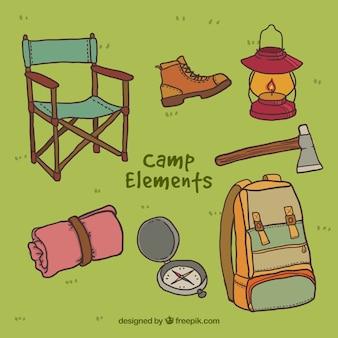 Pack de objetos de campamento