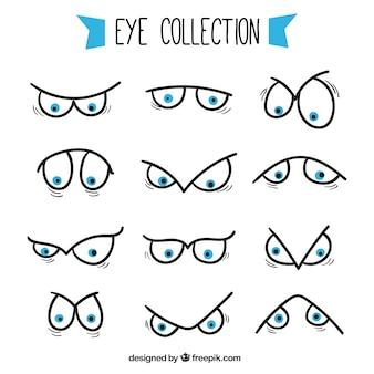 Pack de ojos con diferentes expresiones