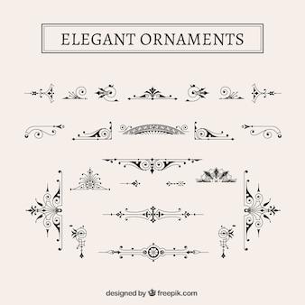 Pack de ornamentos elegantes vintage