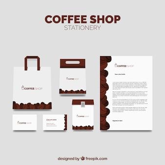 Pack de papelería de cafetería