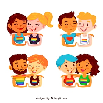 Pack de parejas homosexuales pintadas a mano