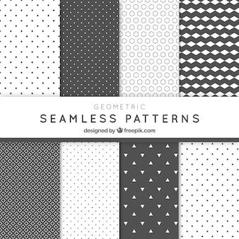 Pack de patrones abstractos geométricos grises