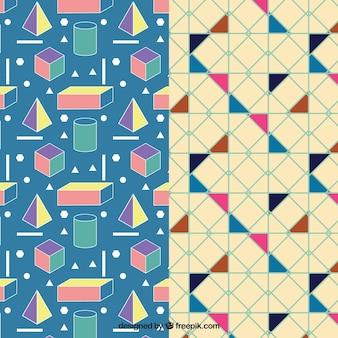 Pack de patrones geométricos coloridos