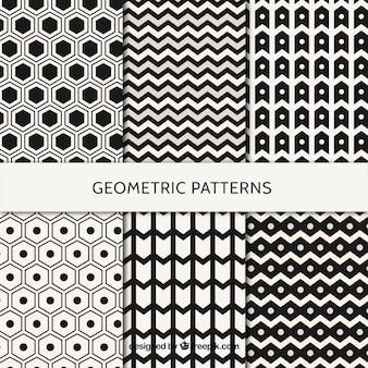 Pack de patrones geométricos en blanco y negro