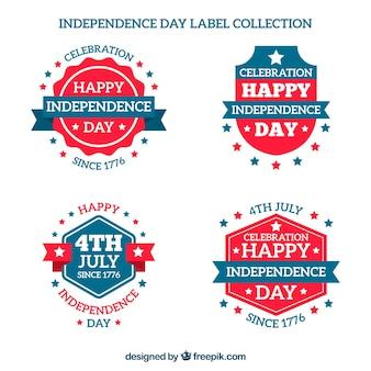 Pack de pegatinas azules y rojas para el día de la independencia