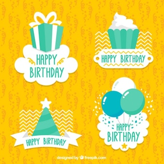 Pack de pegatinas bonitas de feliz cumpleaños