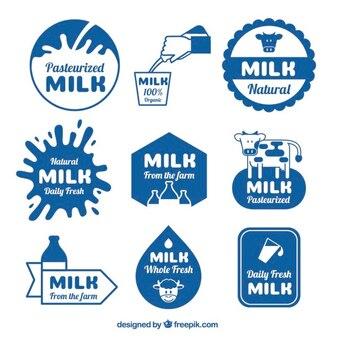 Pack de pegatinas de leche