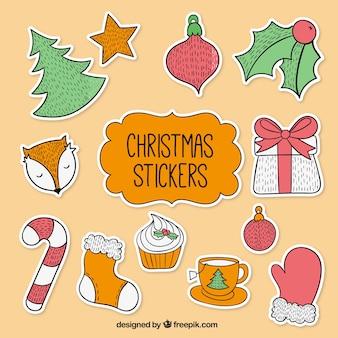 Pack de pegatinas de Navidad