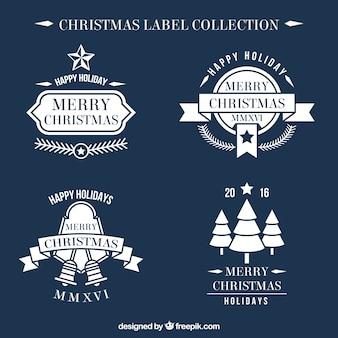 Pack de pegatinas vintage de feliz navidad