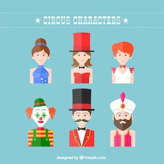 Pack de personajes de circo
