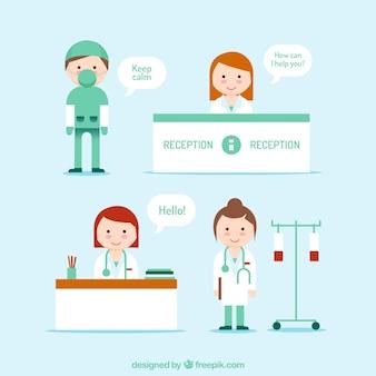 Pack de personajes médicos