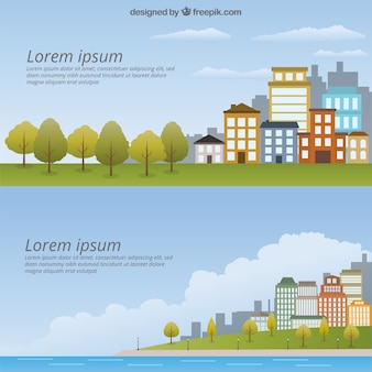 Pack de plantilla de paisaje urbano