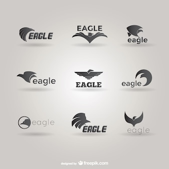 Pack de plantillas de logos con águilas