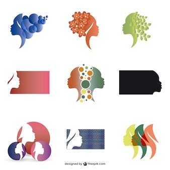 Pack de plantillas de logos de mujer