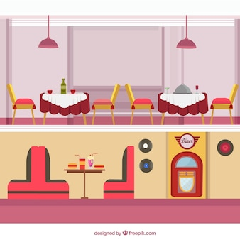 Pack de restaurantes vintage