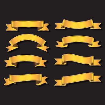 Pack de ribbons dorados