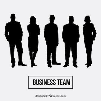 Pack de siluetas de equipo de negocios