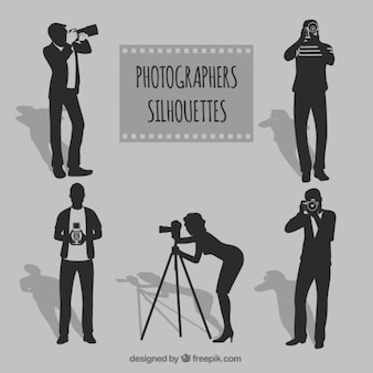 Pack de siluetas de fotógrafos