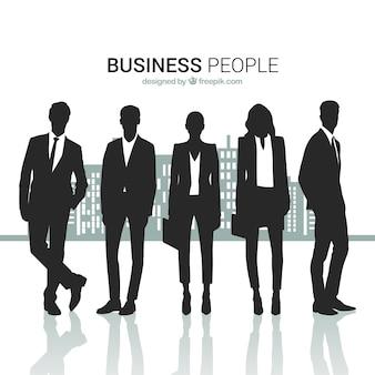 Pack de siluetas de gente de negocios