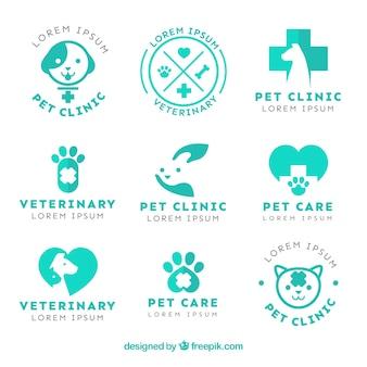 Pack de simpáticos logos de veterinaria