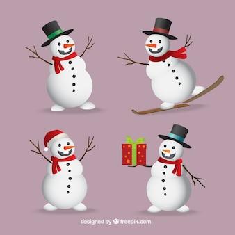 Pack de simpáticos muñecos de nieve