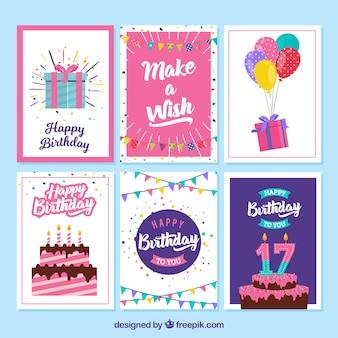 Pack de tarjetas de cumpleaños