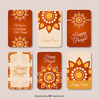 Pack de tarjetas de feliz Pongal